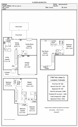 1768 Twin Lakes Circle Floor Plan
